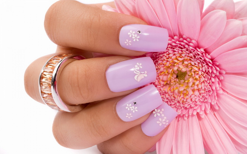 Flower nail designs Beautiful pictures with Flower nail designs