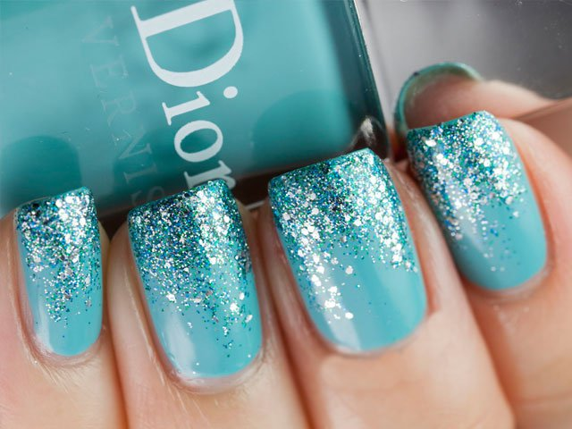 Glitter nail designs 2015 Glitter nail designs for shiny hands