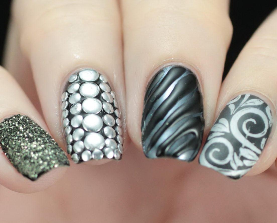 Mix Textures nails