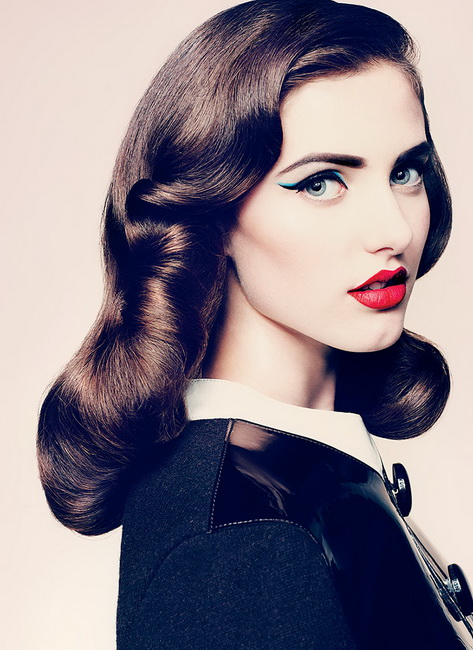 Vintage looks for brunettes Vintage Hairstyles for all type of parties