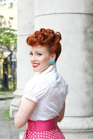 Vintage looks for redheads Vintage Hairstyles for all type of parties