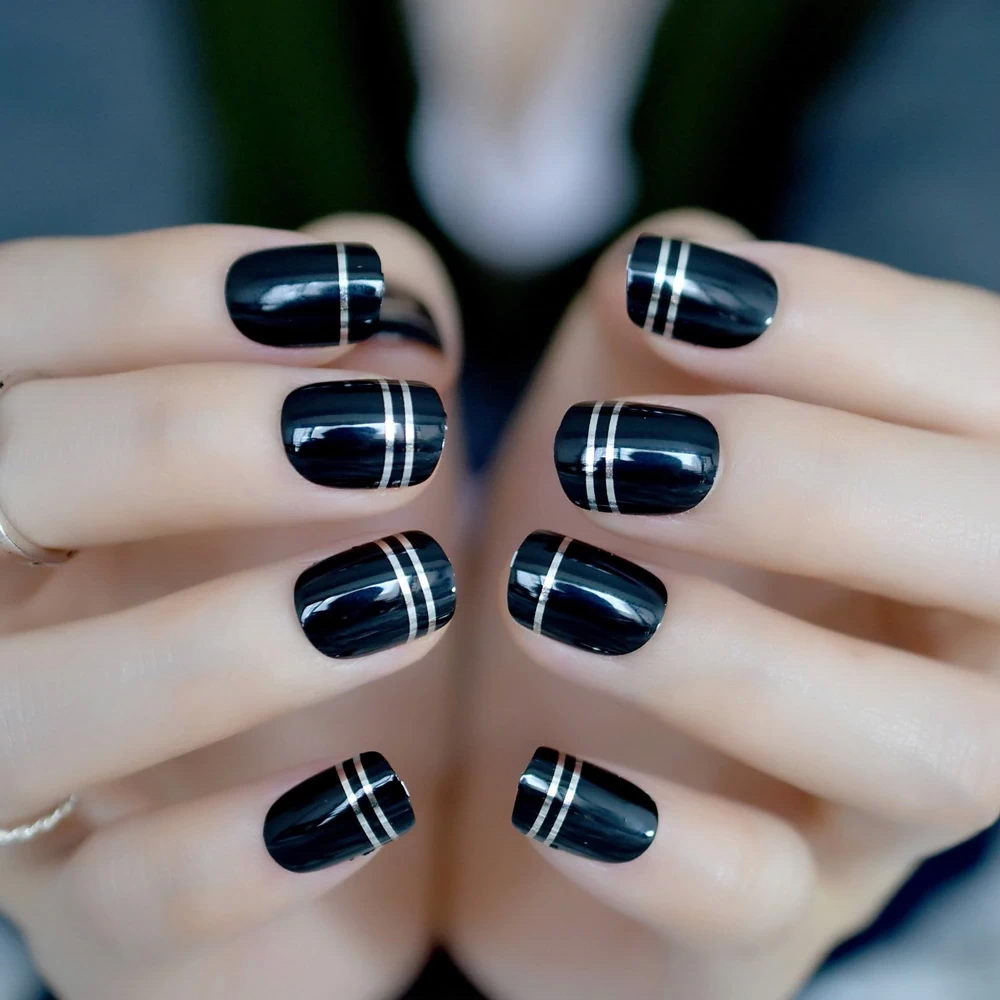 White and Black Stripes