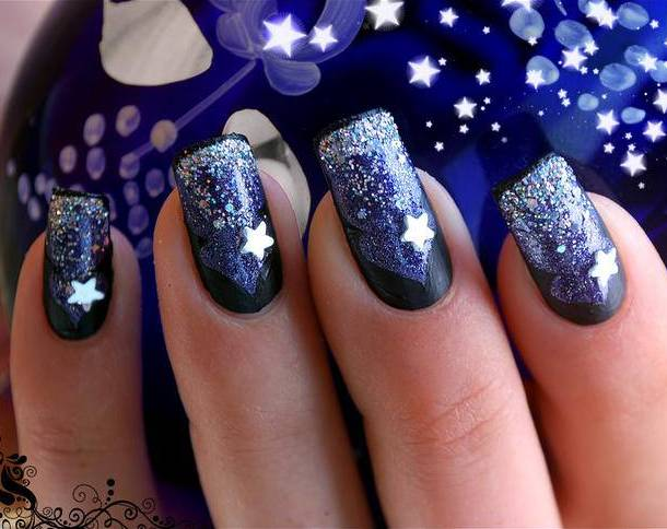 acrylic glitter nail designs Glitter nail designs for shiny hands