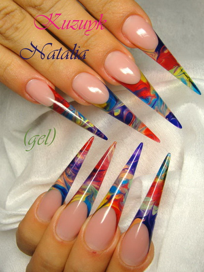 acrylic nail designs1 Stiletto nail designs: most beautiful ideas