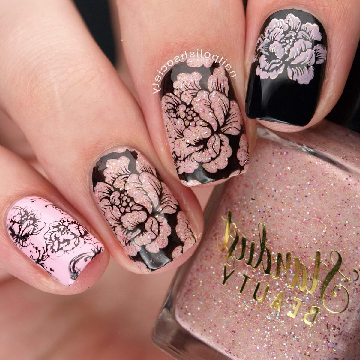 acrylic nails flower designs