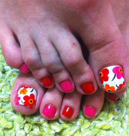 beach toe nail designs