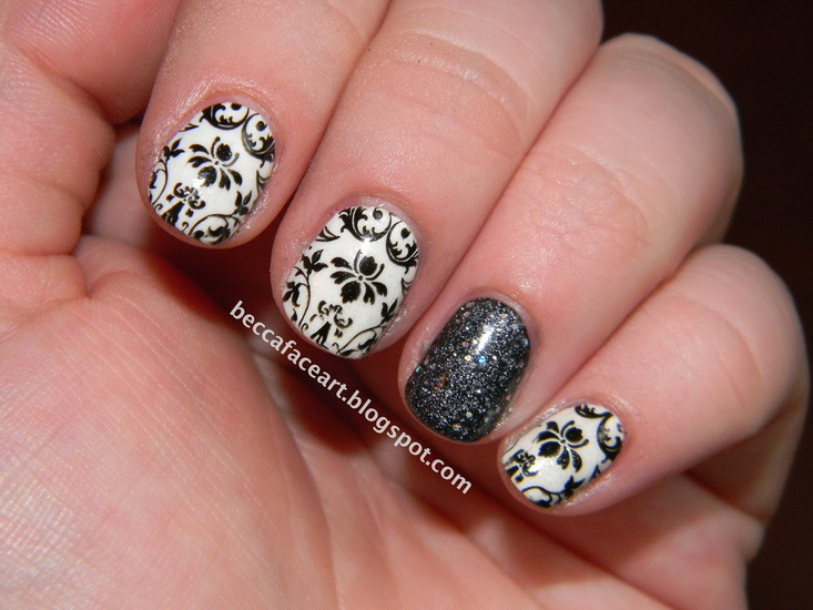 20 amazing black and white nail designs