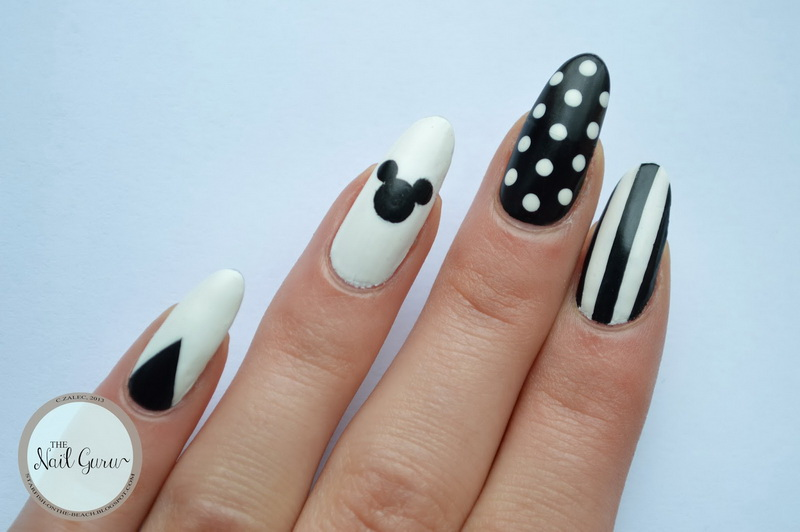 20 Amazing Black And White Nail Designs Yve Style
