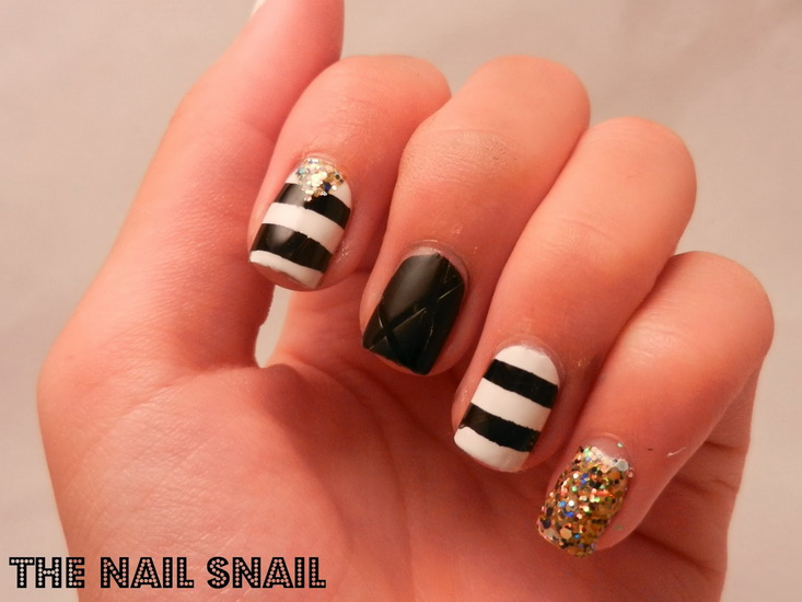 20 amazing black and white nail designs yve style black and white nail designs for short nails 20 amazing black and white nail designs prinsesfo Gallery