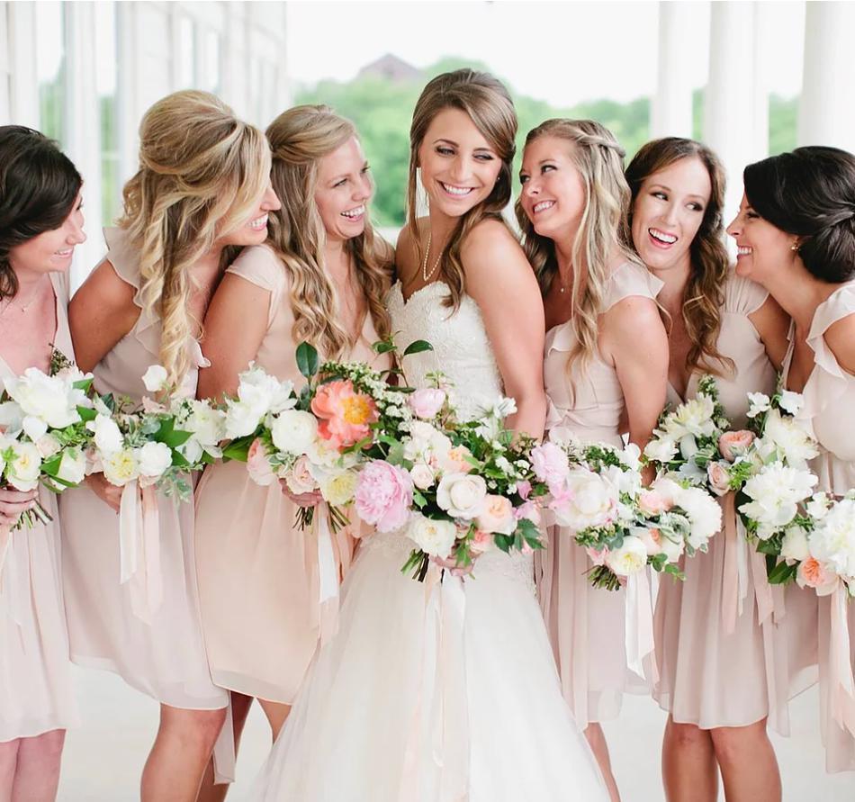bridesmaid hairstyle long hair