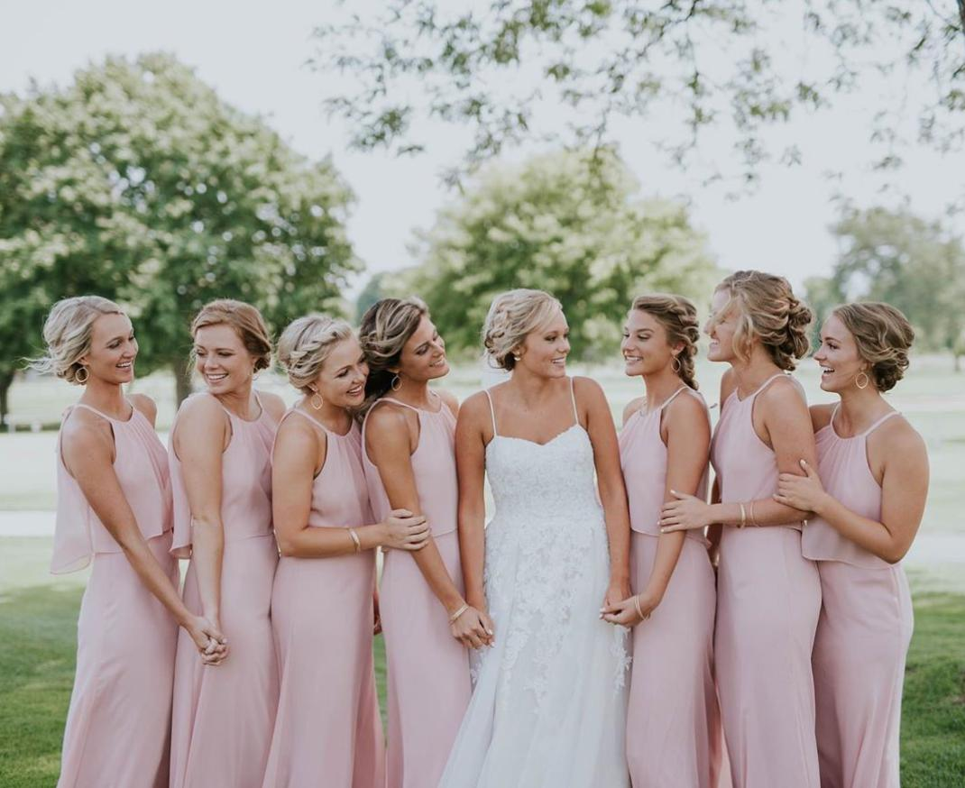 bridesmaid hairstyle with bangs