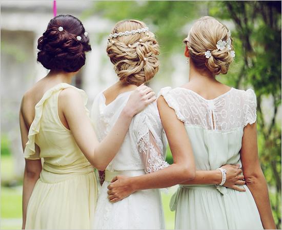 bridesmaid updo hairstyles Bridesmaids Hairstyles for short & medium & long hair