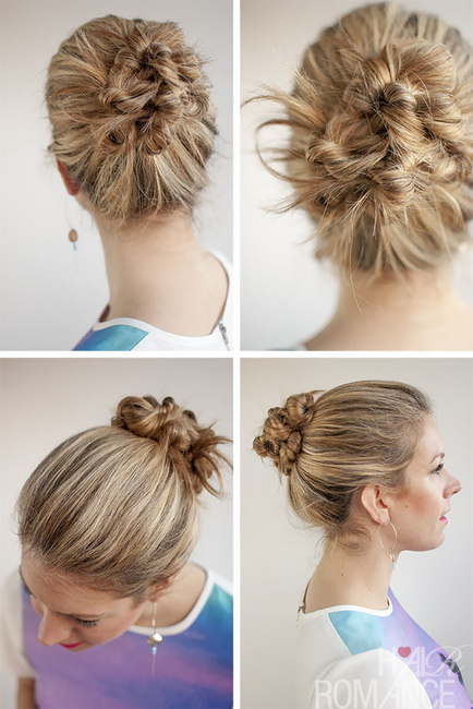 buns hairstyles Bun Hairstyles video tutorials and photos