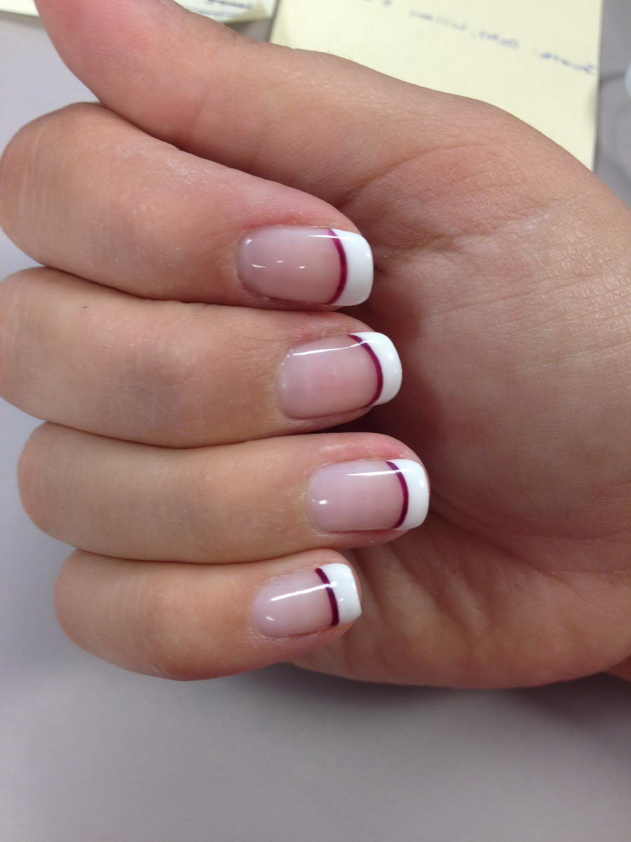 classy french tip nail designs