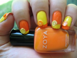 colored french tip nail designs