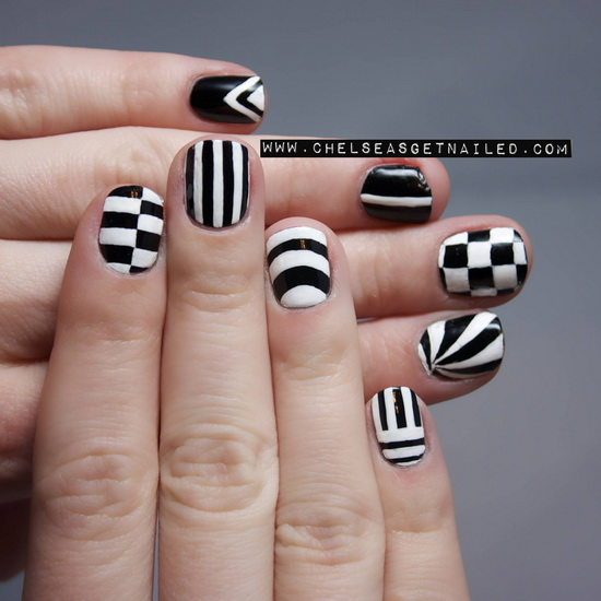 cool black and white nail designs 20 Amazing Black and white nail designs