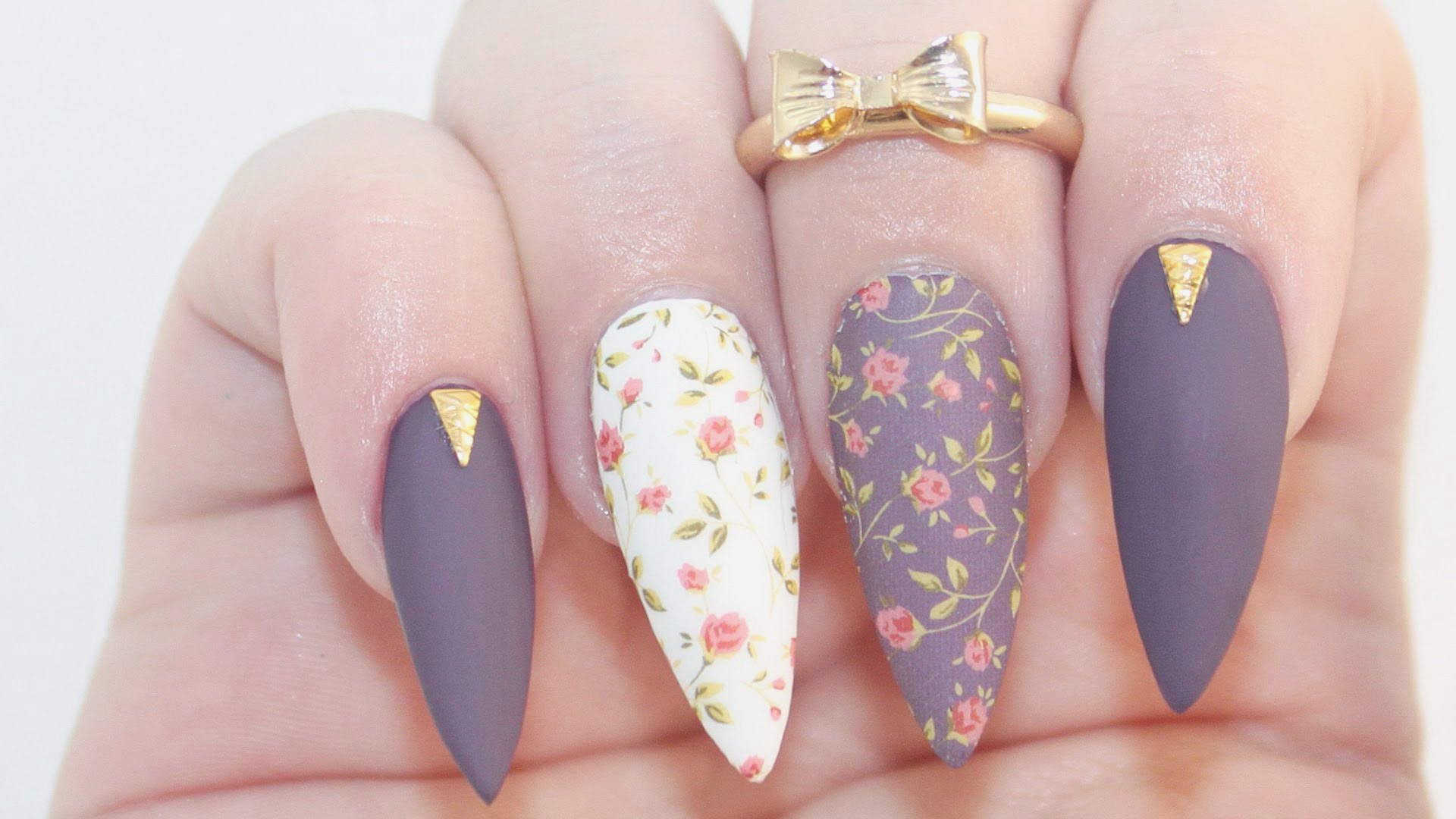 cool flower nail designs