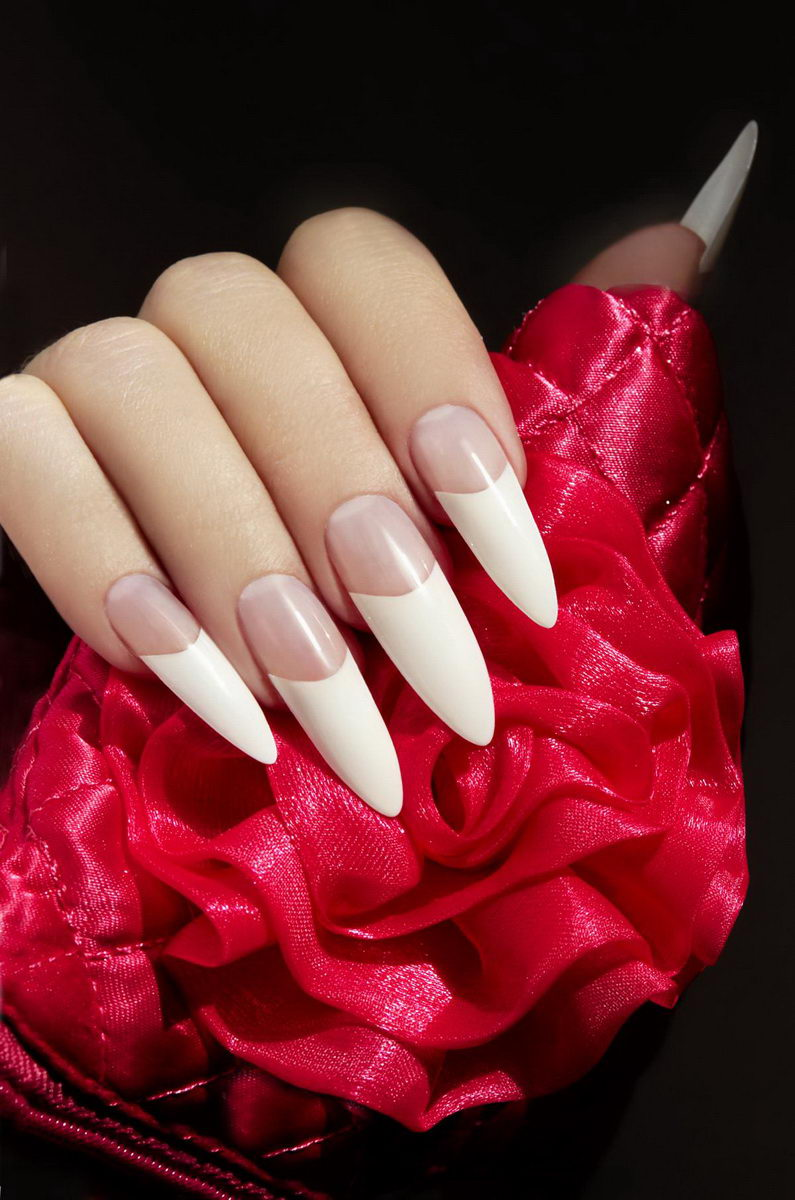 cool french tip nail designs