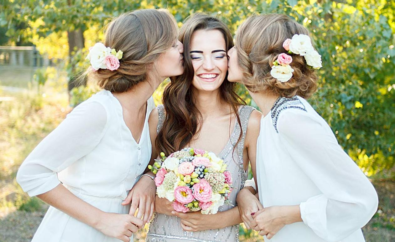 country wedding hairstyles for bridesmaids