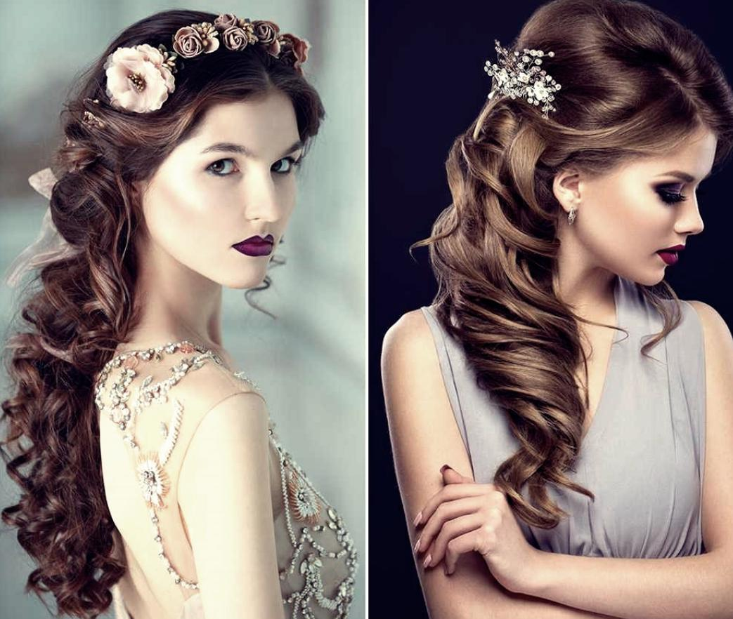 curled hairstyles for bridesmaids