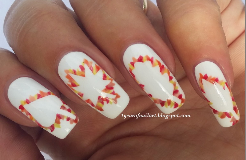 cute easy fall nail designs