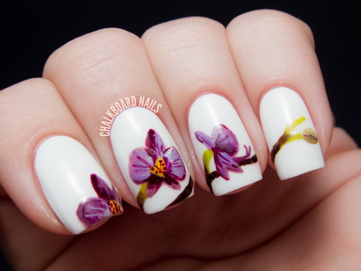 cute flower nail designs