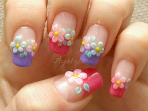 cute french tips nail design