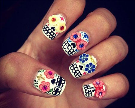 cute halloween nail designs halloween nail designs pictures