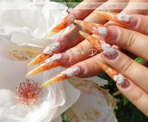 cute stiletto nail designs