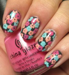 easy flower nail designs