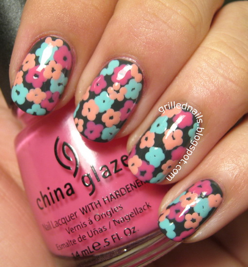 easy flower nail designs