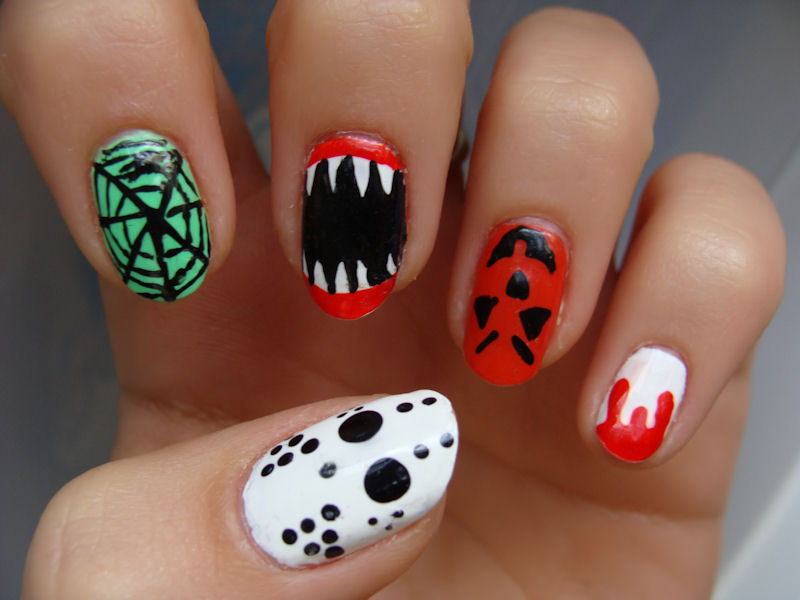 Halloween nail designs pictures yve style prinsesfo Images