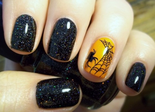 easy halloween nail designs