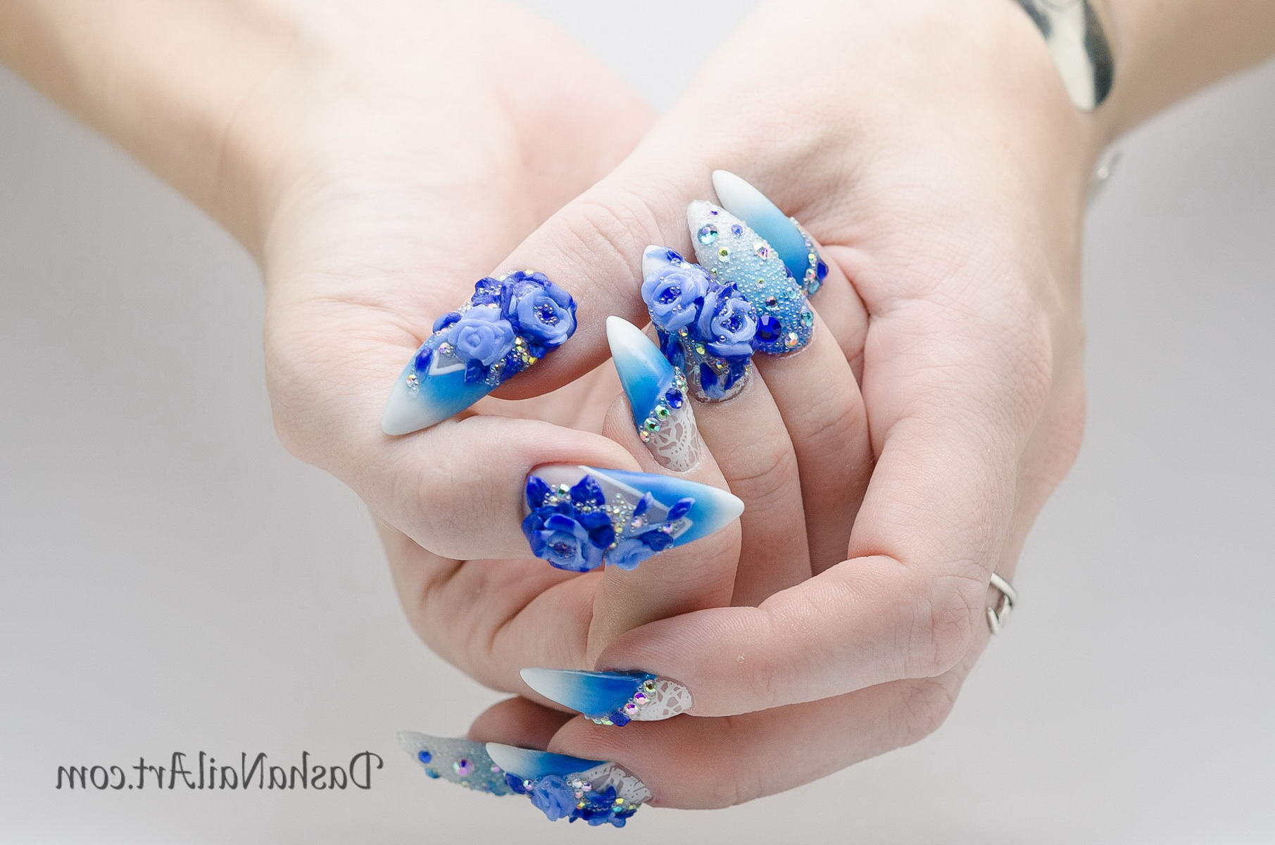 fall flower nail designs