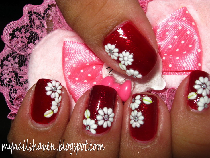 flower designs for nails Beautiful pictures with Flower nail designs