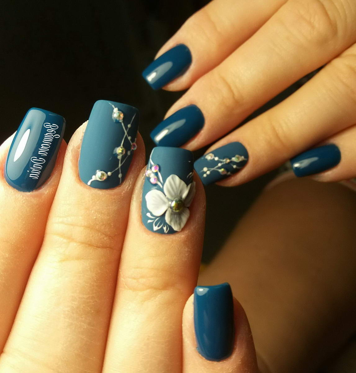 flower gel nail designs