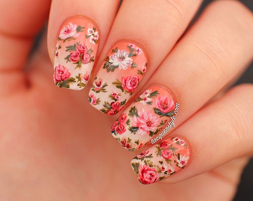 Beautiful Pictures With Flower Nail Designs Yve Style Com