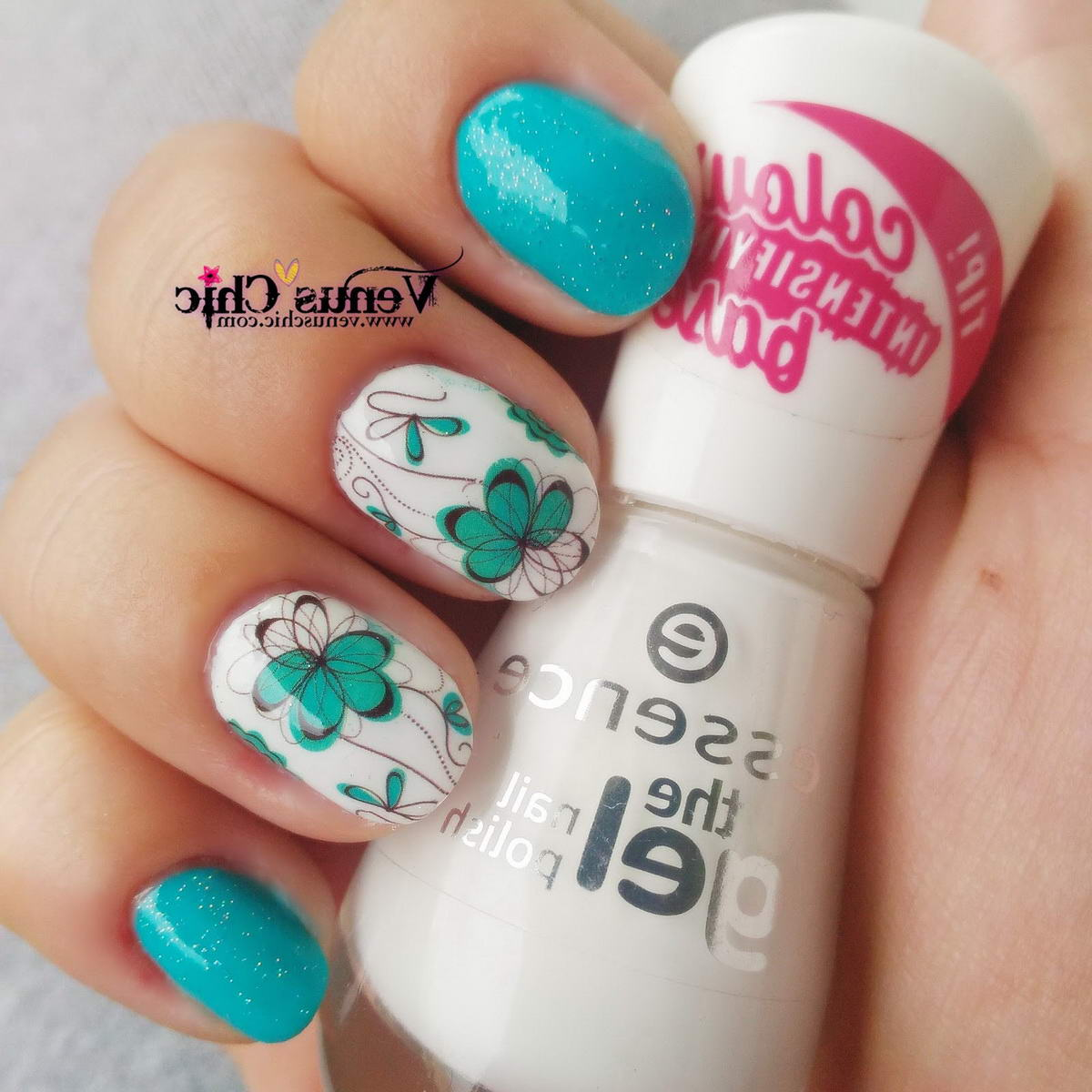 flower nail polish designs