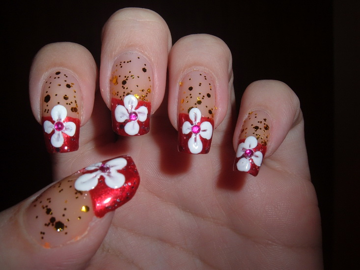 Beautiful pictures with flower nail designs yve style designs flowers for nails solutioingenieria Gallery