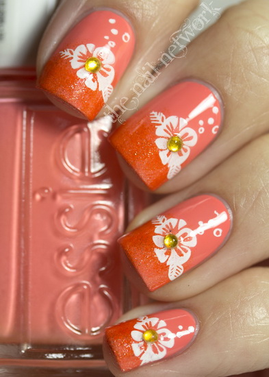 flowers nail designs
