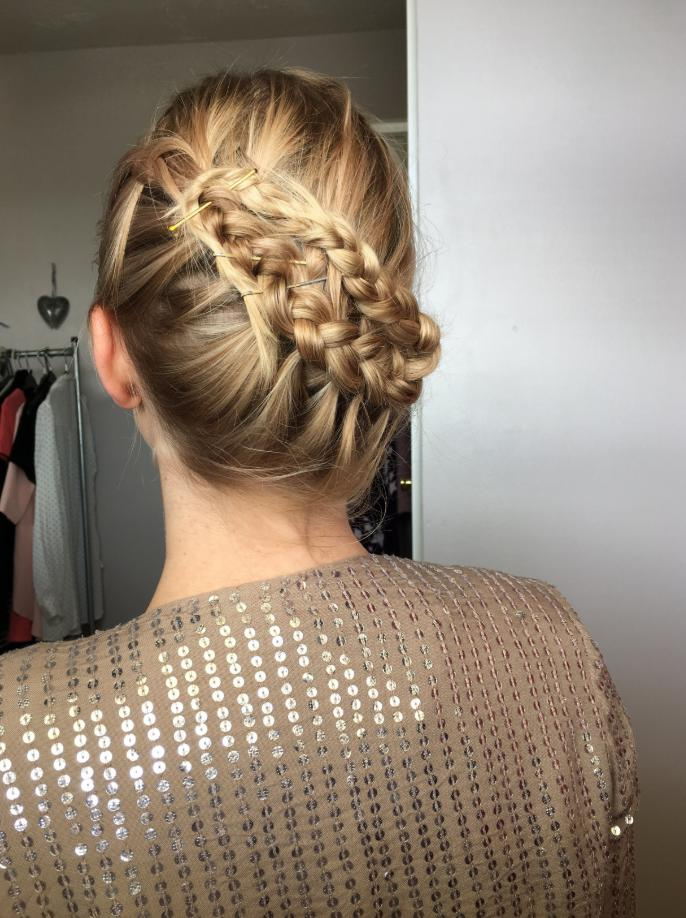 french braided bun hairstyles