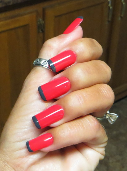 french tip acrylic nail designs
