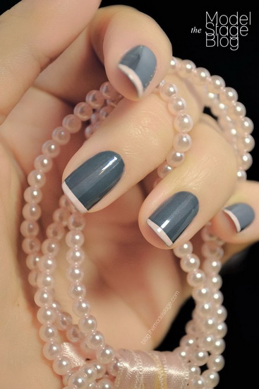 french tip designs 20 most exclusive French tip nail designs