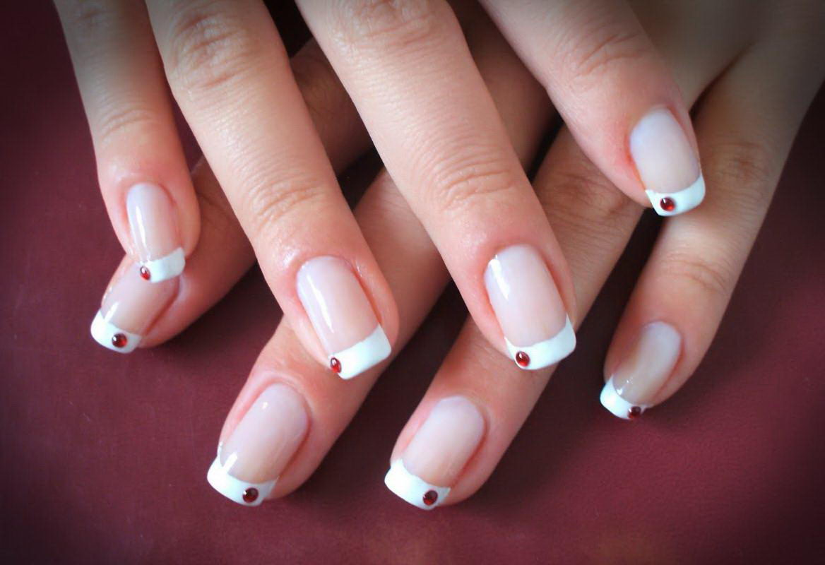 french tip gel nail designs