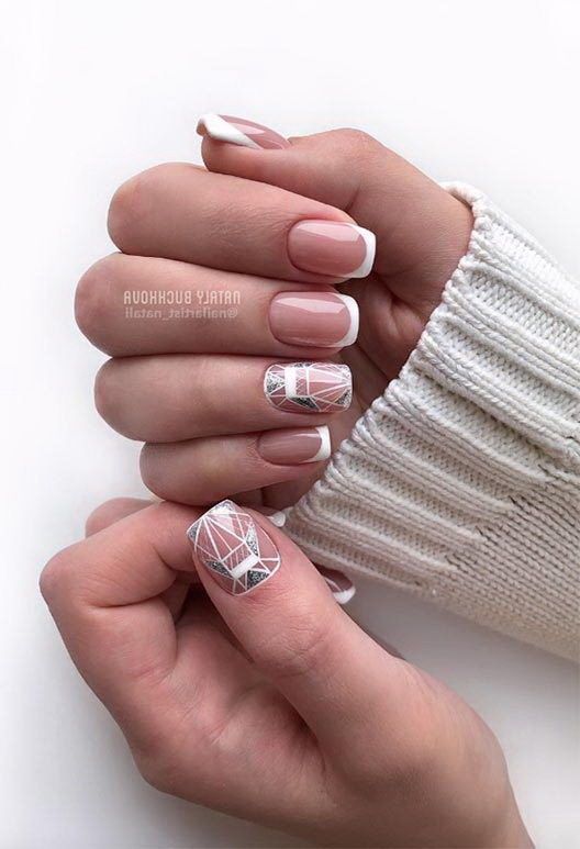french tip nail designs for short