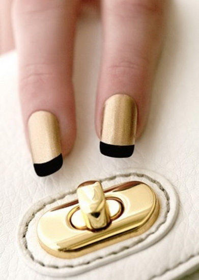 french tip nail designs with glitter 20 most exclusive French tip nail designs