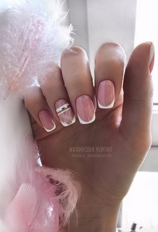 french tip square style nail designs