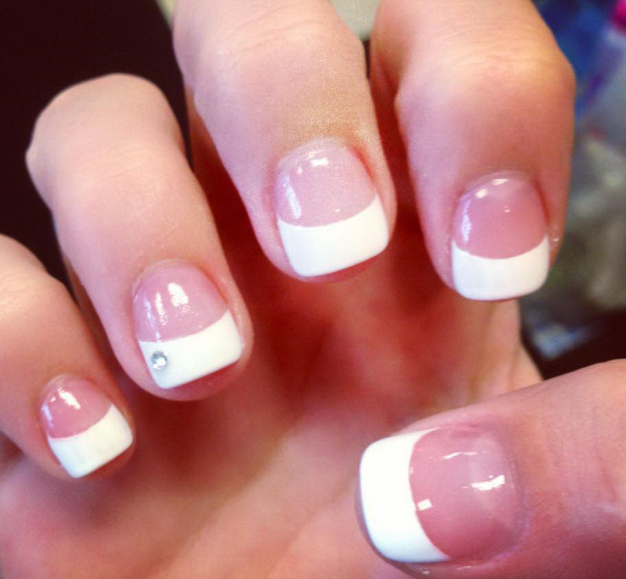 french white tip nail designs
