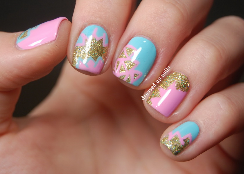 Glitter nail designs for shiny hands - yve-style.com