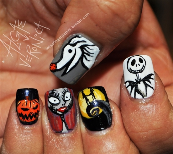 halloween nail art pictures Halloween Nail Designs pictures